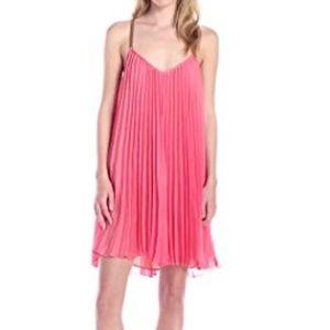 BCBG Chiffon Pleated Dress